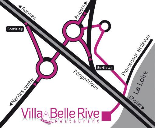 Plan accès du Restaurant Villa Belle Rive